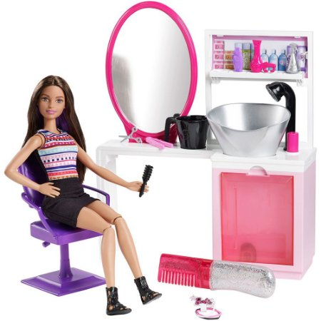Barbie Fashion Salão Estilo e Brilho Brunette Mattel