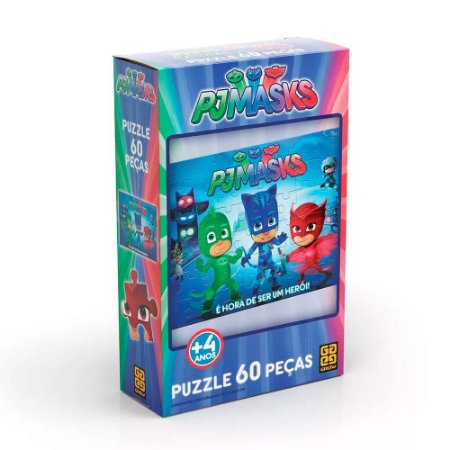 Quebra-Cabeça - 60 Peças - PJ Masks - Grow