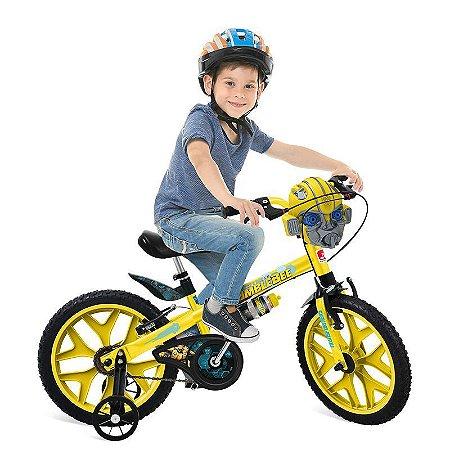 Bicicleta Transformes Aro 16 Amarelo- Bandeirante