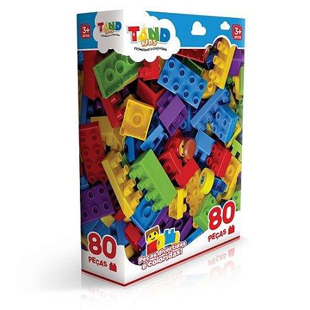 Blocos De Montar Tand 80 Peças- Toyster