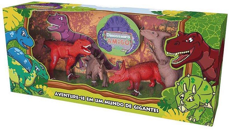 Dinossauro Amigo com 4 Peças - Super toys