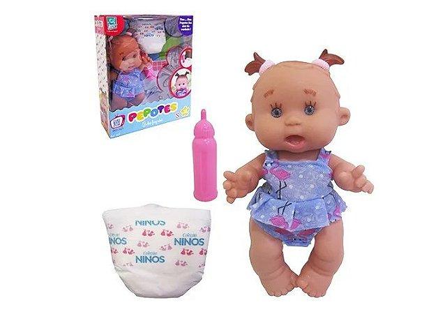 Boneca Pepotes Bebe Faz Xix - Super Toys