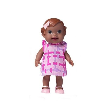 Boneca Baby's Collection Papinha Negra - Super Toys