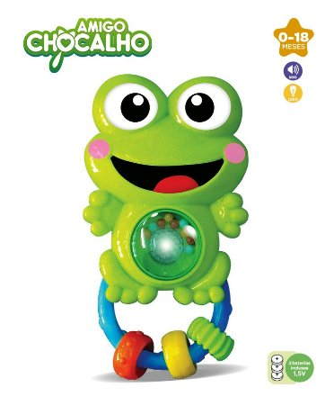 Amigo Chocalho Sapinho ZP00002 - Zoop Toys