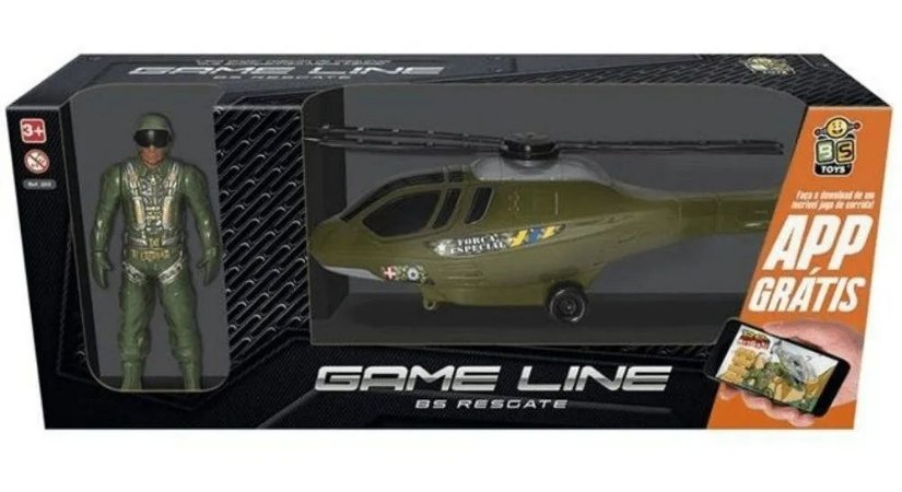 Helicóptero Resgate com Boneco 323 Bs Toys