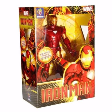 Boneco Metalizado Homem De Ferro Premium Mimo Brasil
