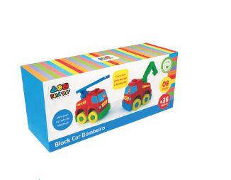 Block Car Bombeiro- Bell Toy