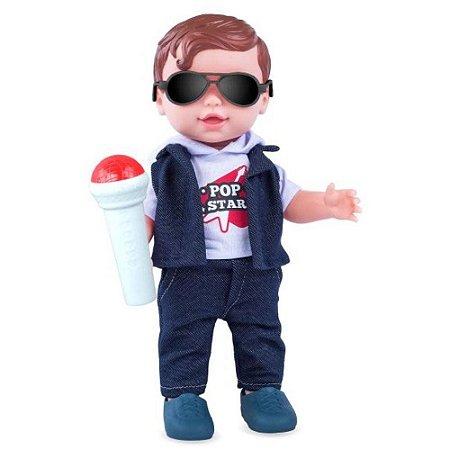 Boneco Babys Collection Pop Star Menino - Super Toys