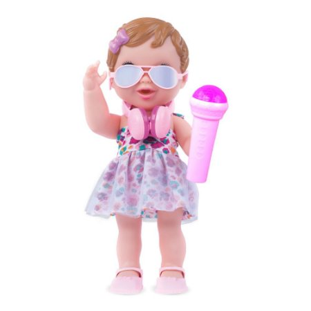 Boneca Pop Star Baby's Collection Menina-362 - Super Toys