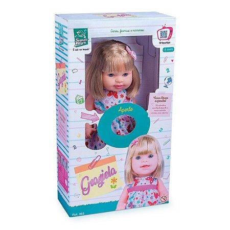 Boneca Graziela Fala E Ensina Cores Formas E Números 363 - Super Toys