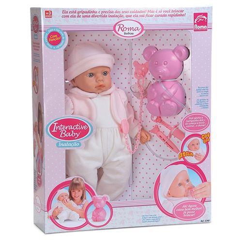Boneca  Roma Baby Inalação