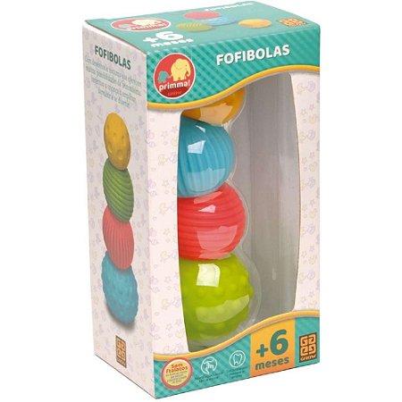 Brinquedo Para Bebe Fofibolas C/4 Bolas - Grow