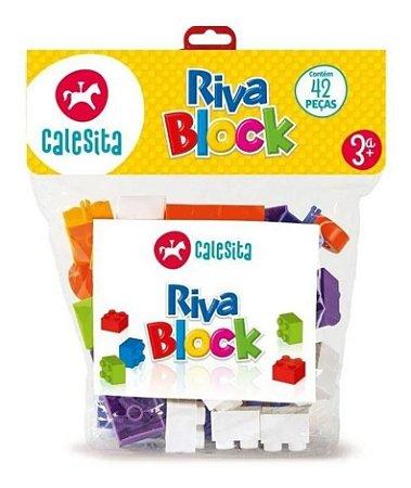Blocos De Montar Riva Block 42 Peças Calesita