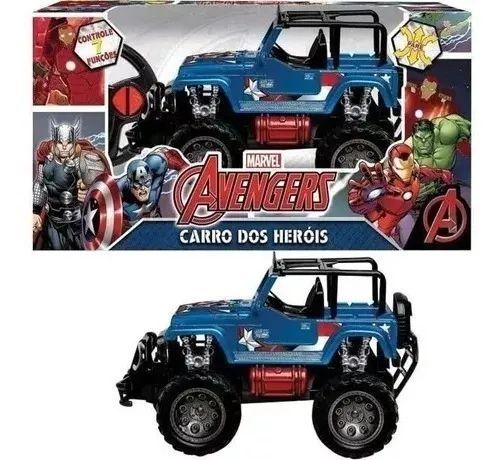 Jipe Cross Controle Remoto Marvel Capitão América Mimo Brasil