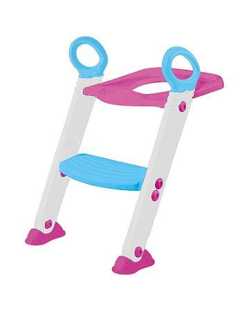 Assento Redutor Com Escada Rosa Buba - Infantil