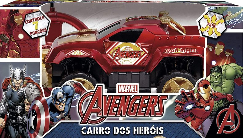 Carrinho Controle Pick Up Homem Ferro Brinquedos Mimo Brasil