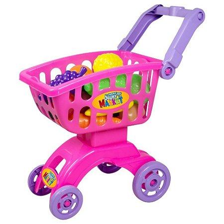 Super Market Rosa Infantil Cor Rosa 18 Peças - Braskit
