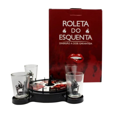 Jogo Drinks Zona Criativa Roleta c/4 Shots - Esquenta o Amor