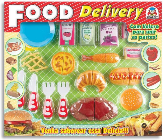 Food Delivery Lanches Comidinha Brinquedo Infantil - Braskit