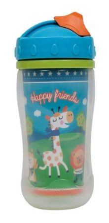 Copo Com Tampa 320ml Happy Friends Buba - Infantil