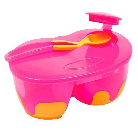 Kit Refeição Com Divisória Rosa Buba - Infantil