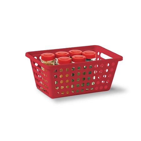 Cesta Organizadora N° 2 Cromo - Vermelha - Niquelplast