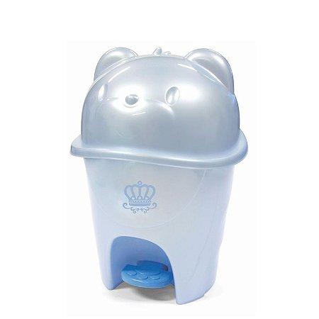 Lixeira cajovil c pedal fofura 6,5 lt azul real