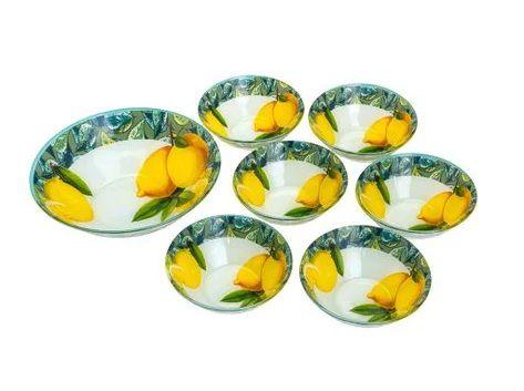 Jogo de Sobremesa de Vidro 7 Peças Lemons - Rojemac