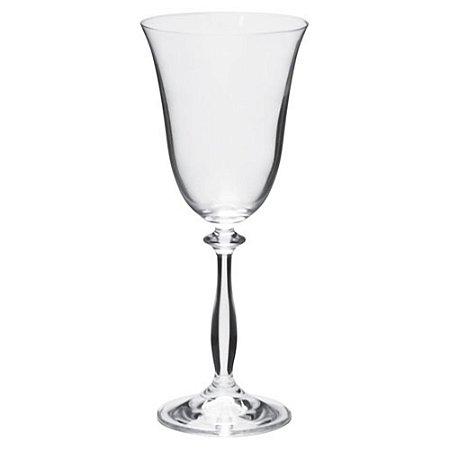 Jogo 6 Taças De Vinho Tinto Angela 250 Ml Cristal Bohemia - Full Fit