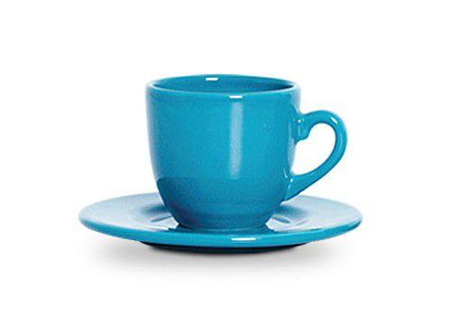 Xicara Com Pires Standard Azul Turq - Scalla