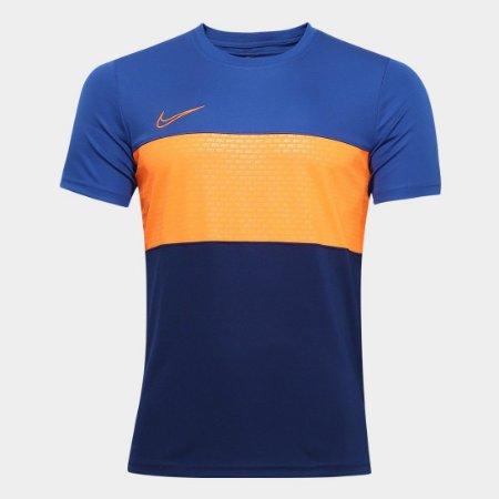 Camisa Nike Academy Top Masculina - Marinho e Laranja