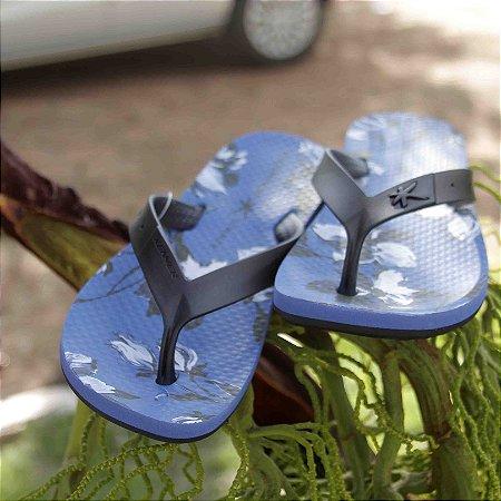 Sandália Summer Botanic Azul Kenner - Masculino