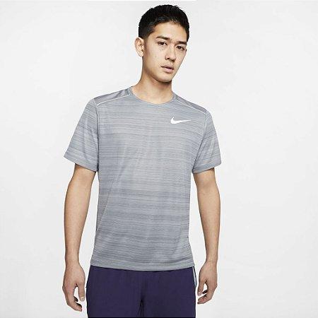 Camiseta Dri-FIT Miler Cinza Nike - Masculina