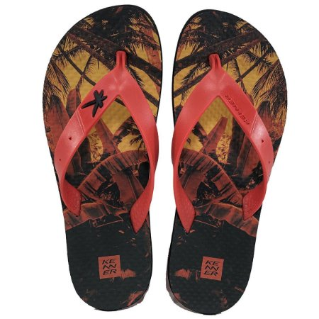 Chinelo Summer Jungle Vermelho Kenner - Masculino