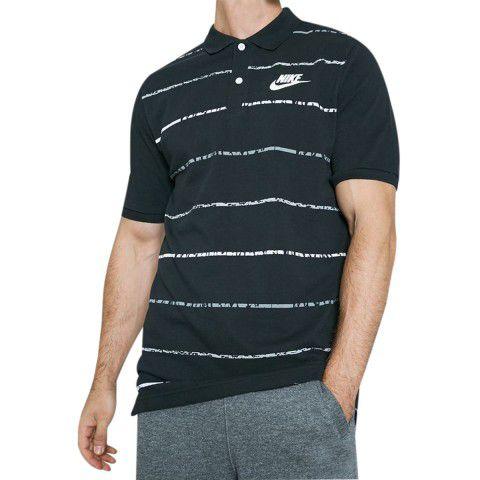 Camisa Polo Nike Pique Mathup Masculina - Preta