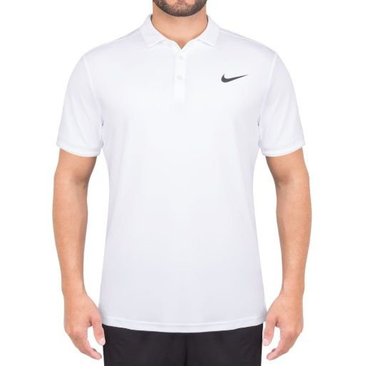 Camisa Polo Nike Court Dry Masculina - Branca