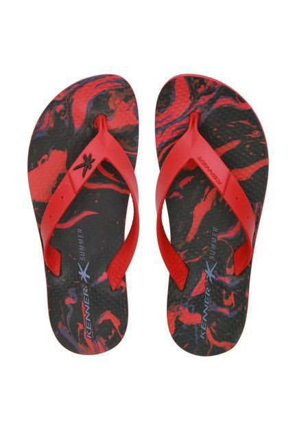 Chinelo Summer Abstract Preto Kenner - Masculino
