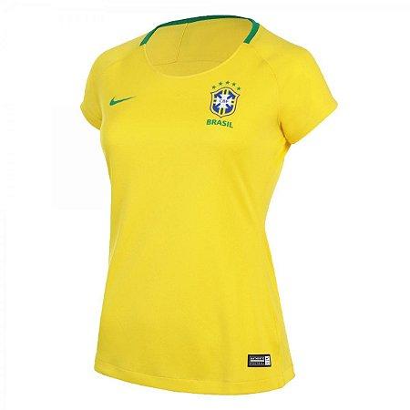 Camisa Nike Brasil Manga Curta Feminina