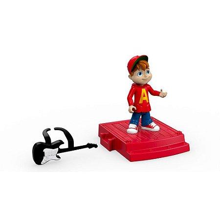 Figura com Cenário Alvin E Os Esquilos - Alvin - Mattel
