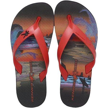 Chinelo Summer Surf Vermelho Kenner - Masculino
