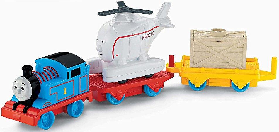 Thomas E Seus Amigos - Trackmaster Thomas E Harold Gira-Gira - Mattel