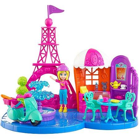 Playset Polly Pocket Férias em Paris Mattel