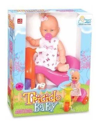 Boneca Triciclo Baby - Anjo