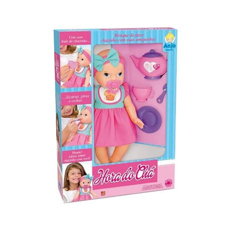 Boneca Hora Do Chá Com Acessórios 2023 - Brinquedos Anjo