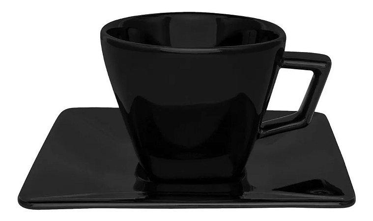 Xícara Oxford Chá 200ml Black Gd022006