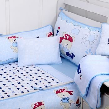 Jogo De Berço Filhotes Azul Minasrey- Infantil