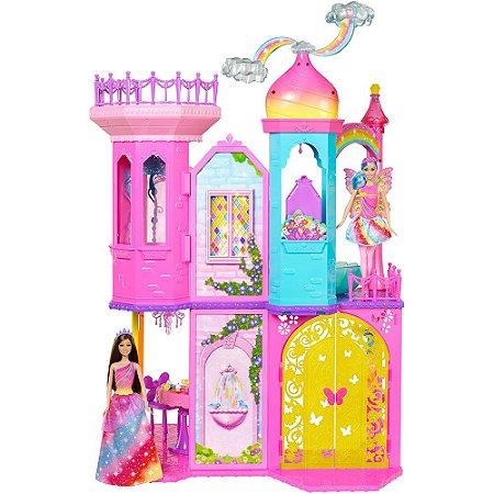 Boneca Barbie Fantasia Castelo Arco-Íris - Mattel