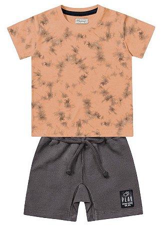 Conjunto Camiseta/Bermuda Fakini - Menino
