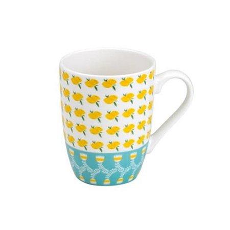 Caneca Lemons Porcelana 330ml Rojemac