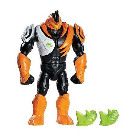 Boneco Max Steel La Fiera Rino - Mattel